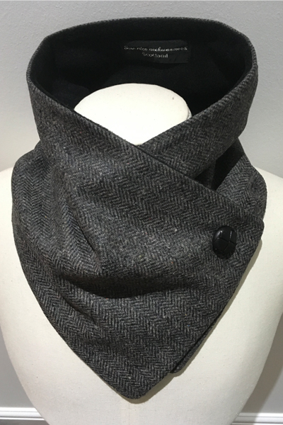 Pure Wool Mens Neckwarmer in Charcoal
