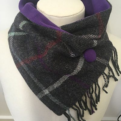 Charcoal_Mauve_Mix_Fringed neckwarmer