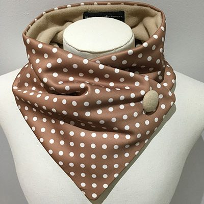 Polyester lightweight neckwarmer Coffee dots